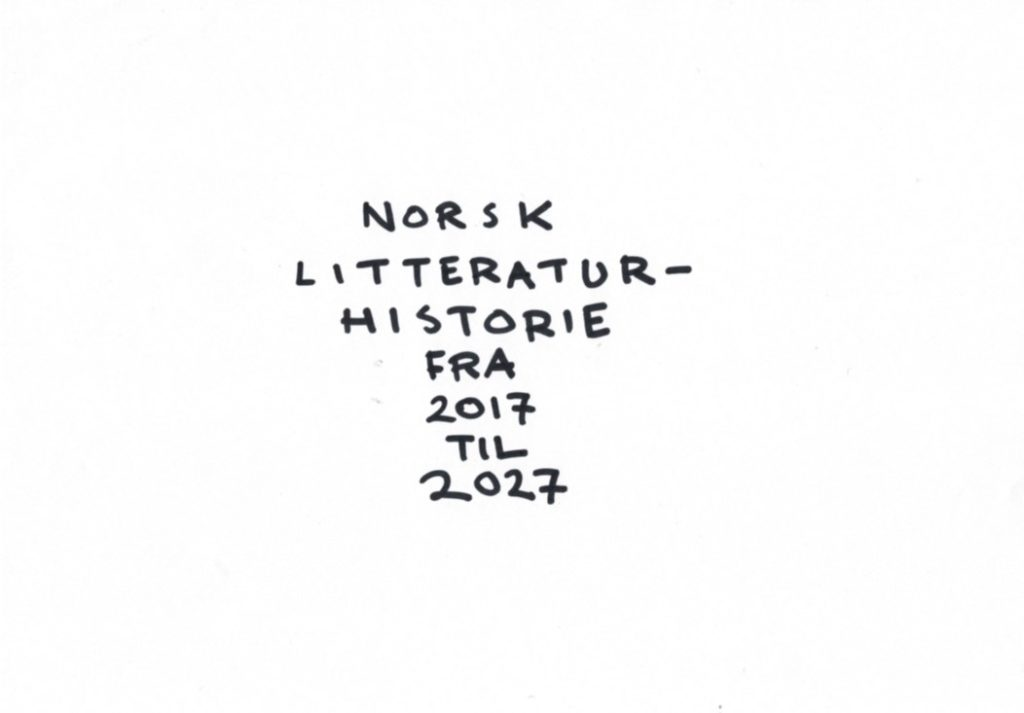 Knut Nærum gir deg norsk litteraturhistorie 2017-2027