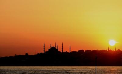 Istanbul sett nedenfra