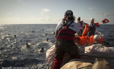 Redningsbåter i Middelhavet