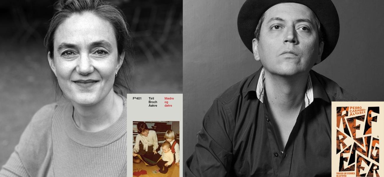 Tiril Broch Aakre og Pedro Carmona-Alvarez i samtale