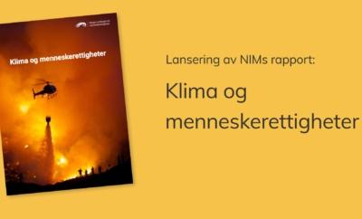 Digitalt seminar om klima og menneskerettigheter