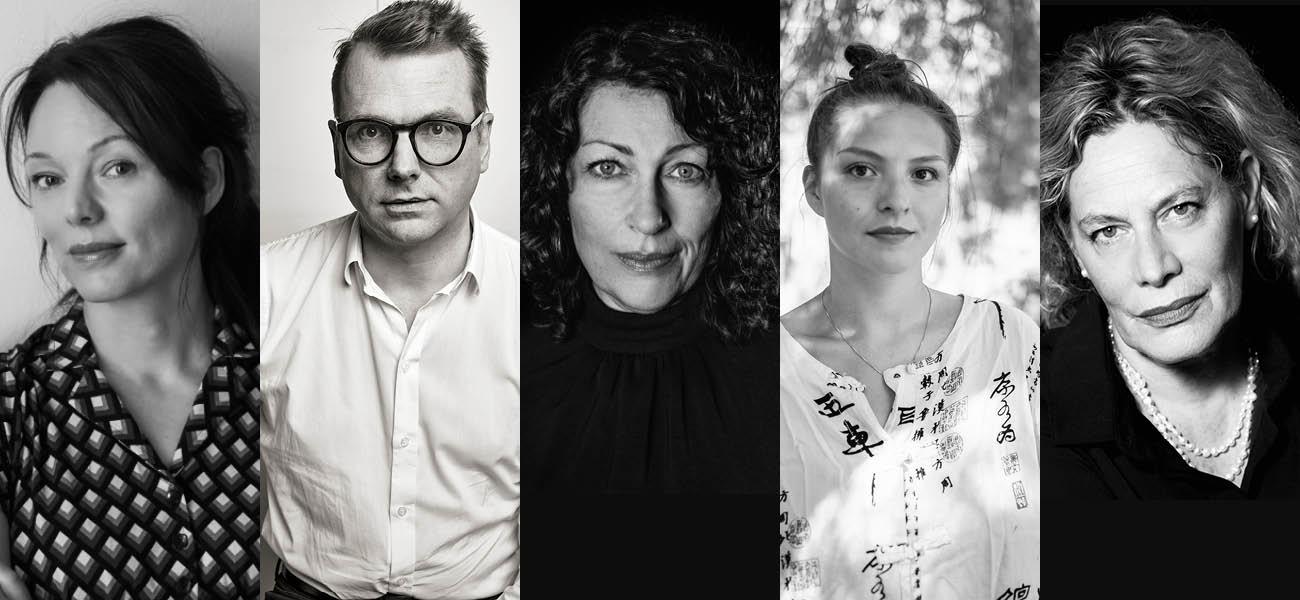 Lina Wolff, Elisabeth Åsbrink, Mattis Øybø og Stine Pilgaard